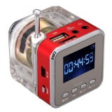 MeGooDo Mini Digital Portable Music MP3/4 Player Micro SD/TF USB Disk Speaker FM Radio Red