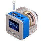 MeGooDo Mini Digital Portable Music MP3/4 Player Micro SD/TF USB Disk Speaker FM Radio Blue