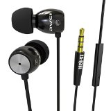 Iseason Headphones In-Ear Wired Earphones Earbuds with Microphone for iPhones, iPods and iPads, Android Devices, Tablet,Mp3 players, CD Players and More,Black