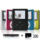 Lecmal Portable MP3/MP4 Player with 32G Micro SD Card Mini USB Port - Economic Multifunctional MP3 Player / MP4 Player Music Player Voice Recorder Media Player Flash Disk , Best Gift for Kids (Black)