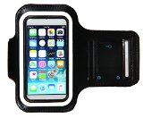 iPod Touch 6th Generation (6G) Exercise & Running MP3 Player Armband Case with attorney Holder & Reflective Band (Black)