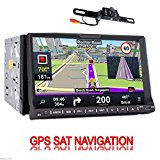 Rear Camera Included GPS Navigation 2 DIN In Dash Car Autoradio Stereo Headunit CD DVD Player 7-Inch LCD Touch concealment MP3/MP4/USB/SD/AM/FM Radio/Bluetooth/Audio