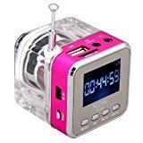 soled Rose Mini Digital Portable Music MP3/4 Player TF Card USB Disk Excellent good calibre Speaker FM Radio