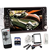 3G cyberspace Dongle+Car Autoradio Radio Stereo GPS Navigation Map 6.2-Inch 2 DIN Car DVD CD MP3 Player In Dash Touchscreen MP4/USB/SD/AM/FM Radio Bluetooth