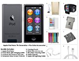 Apple iPod Nano 8th Generation, 16GB- Space Grey + Extra Accessories Package *LATEST MODEL Released July, 2015*