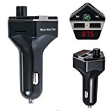 Oenbopo Newest Bluetooth FM Transmitter, Wireless Handsfree Car outfit USB Quick Charging Car Charger MP3 Player Car Kit Support SD/TF for Android iPhone