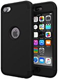 iPod Touch 5 Case,iPod Touch 6 Case,SLMY(TM)Heavy Duty High Impact Armor Case Cover Protective Case for Apple iPod contact 5 6th Generation Black/Black