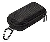 AGPtek Durable MP3 Player Case,Portable Clamshell Headphones Cover,Holder With Metal Carabiner Clip,For MP3 Players,USB Cable,Earphones,Memory Cards,U Disk,Lens Filter,Keys,Coins,Black