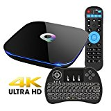 EVANPO Android 6.0 TV BOX Amlogic S905 Quad Core 2GB DDR3 16GB EMMC Flash, 2.4G/5G Dual Wifi 1000M LAN Ethernet Bluetooth 4.0 3D 4K2K Smart Mini PC Set Top Box with Wireless Keyboard