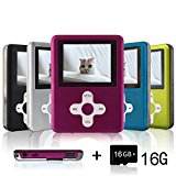 Lecmal MP3 / MP4 Player, Economic Multifunctional Music Player Portable MP3 / MP4 Player with 16GB Micro SD Card Mini USB Port - Voice Recorder Media Player Flash Disk, Best Gift for Kids (Pink02)