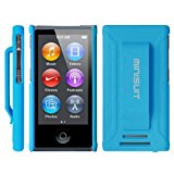 Minisuit JAZZ Slim Shell Case with Belt Clip + Screen Protector for iPod Nano 7 or 8 / 7th or 8th Gen (Rubberized Blue)