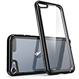 iPod Touch 6th Generation Case, [Scratch Resistant] i-BlasonClear [Halo Series] for Apple iTouch 5/6 Hybrid Bumper Case Cover (Clear/Black)