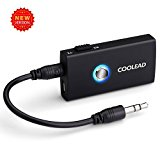 COOLEAD Wireless Bluetooth Stereo Audio Music Streaming Switchable Transmitter and Receiver With 3.5mm Stereo Output for Speakers, Headphone, TV, PC, iPod,ipad,iphone, MP3 / MP4,Car Stereo and More