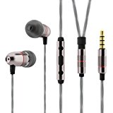 Betron ELR50 Earphones Headphones, Balanced Bass Driven Sound, Noise Isolating, Stereo for iPhone, iPod, iPad, Samsung and Mp3 players (With Mic and Remote)
