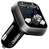 FM Transmitter, OBSTARO Bluetooth Fm Transmitter for car, Wireless in-car Bluetooth Receiver MP3 Player Stereo Radio Adapter automobile outfit with Dual USB Ports ,Hands Free for Iphone, Ipad,Smartphones