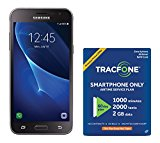 TracFone Samsung Galaxy J3 Sky 4G LTE Prepaid Smartphone with Amazon Exclusive Free  Airtime Bundle