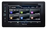 "TUVVA KSD6280 2-DIN Car Stereo with MHL Mobile Connectivity 6.2"" Full Glass Capacitive Touchscreen DVD / CD / USB / MP4 / MP3 Player, RDS Radio Bluetooth, Wireless Remote"