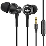 In-Ear Headphones Earbuds with Mic Controller Case, climb Running Gym Exercise Sweatproof Music bose Wired Earphones, For IPhone IPad Android Smartphones Mp3 Mp4 Player Tablet Kids (Black)