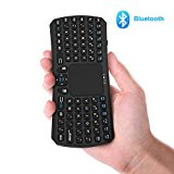 Mini Bluetooth Keyboard, Jelly Comb Rechargable Handheld Remote Control Wireless Mini Keyboard with Touchpad Mouse for PC, Android TV Box, HTPC, Android Smartphone Tablet