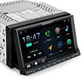 Android Car Stereo Double Din DVD CD Player with Bluetooth GPS Navigation 7 progress Flip Out Touch Screen, Support WIFI, iPhone/iPod, Backup Camera, MirrorLink, USB SD, Dash Cam