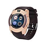 Kanzd 2018 Smart Watch Phone Mate Full Round Screen SIM for Android for iOS (V8 Gold)