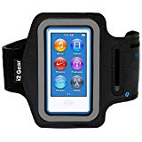 Running and Exercise Workout Armband Case for iPod Nano 8th and 7th Generation Devices with Adjustable Sport Band, Reflective Border, Touch Screen Protection and attorney Holder (Jet Black)