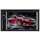 PUMPKIN Double Din Car Stereo Receiver DVD MP5 Player 6.2 Inch Capacitive Touchscreen Radio, Support Backup Camera, MirrorLink, AUX, SD USB