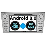 PUMPKIN Android 8.0 Car Stereo for Toyota Camry Aurion with DVD Player, 4GB RAM, Navigation, WiFi, Android Auto, Support Backup Camera, 8 Inch Touch Screen, MirrorLink, 128GB USB SD