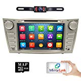 hizpo Rear Camera Included for Toyota Camry 2007 2008 2009 2010 2011 8 progress Indash CAR DVD Player GPS Navigation Navi iPod Bluetooth HD Touchscreen Radio RDS FM+Free US GPS Map Card