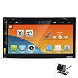 Morrivoe 7''HD Bluetooth Touch Screen Car GPS Stereo Radio Android 5.1 Stereo With Rear Parking Camera Car DVD PC Player GPS Navi In Dash Navigation Headunit Video Player MP3/MP4/GPS/USB/FM/AM