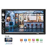Camecho Double Din Car Stereo, Mirror Link 7