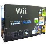 Nintendo Wii Console Negroid with Wii Sports and Wii Sports Resort