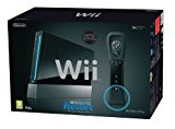Nintendo WII CONSOLE BLACK and 4 games
