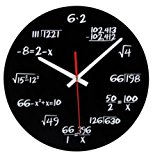 Hot Sale Acrylic Wall Clock Maths Equation Modern Design Portugal Euro Novelty Art Unique Watch Clock Home Decoration Accessorie