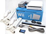 Nintendo Wii Video Game System 2-REMOTE, 2-NUNCHUK Bundle RVL-001 GameCube Family Console WHITE