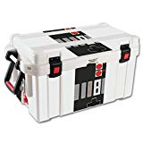 MightySkins Protective Vinyl Skin Decal for Pelican 65 qt Cooler twine counterbalance label skins Retro Gamer 3