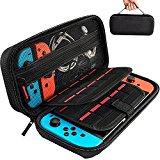 Hestia Goods Switch Carrying Case harmonious with Nintendo Switch - 20 Game Cartridges Protective Hard Shell Travel Carrying Case Pouch for Nintendo Switch Console & Accessories, Black