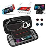 DYIXIN 13 in 1 Accessories harmonious with Nintendo Switch, Carrying Case, Clear Case, Play Stand, 9H Screen Protector, Joy-Con Thumb Grip Caps(4 packs)