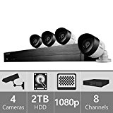 SDH-C74040 - Samsung 8 Channel 1080p HD 2TB Security System with 4 Cameras