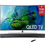 Samsung QN55Q8C Curved 55-Inch 4K Ultra HD Smart QLED TV (2017 Model) + HW-MS6500/ZA Sound+ Curved Premium Soundbar + 1 Year Extended Warranty