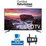 Samsung UN58MU6100 58-Inch 4K Ultra HD Smart LED TV (2017 Model) w/ED Bundle - 9 Value (Bundle Includes: Wall Mount Bracket + 1 Year Extended CPS Limited Warranty) (Certified Refurbished)